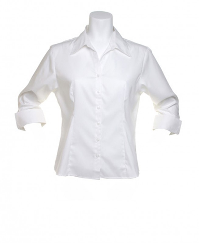 Oxford Blouse with 3/4 Sleeves