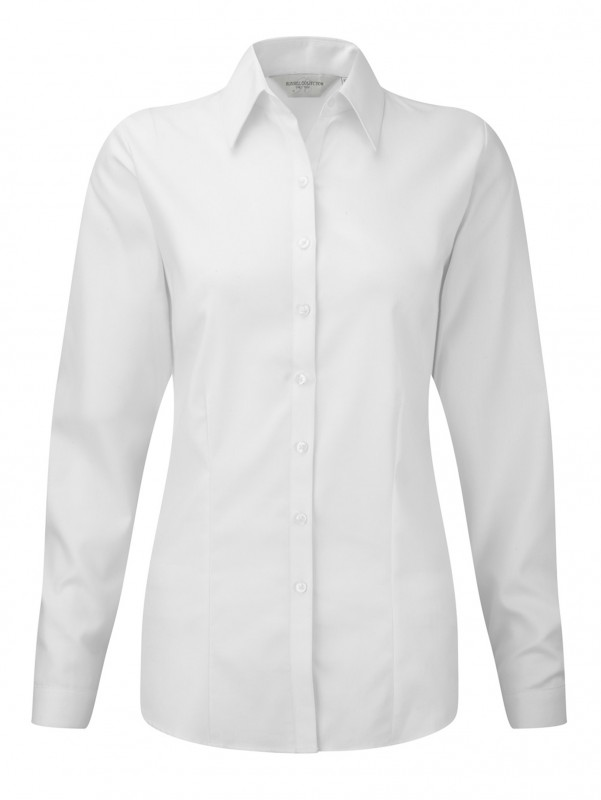 Ladies` LS Herringbone Shirt
