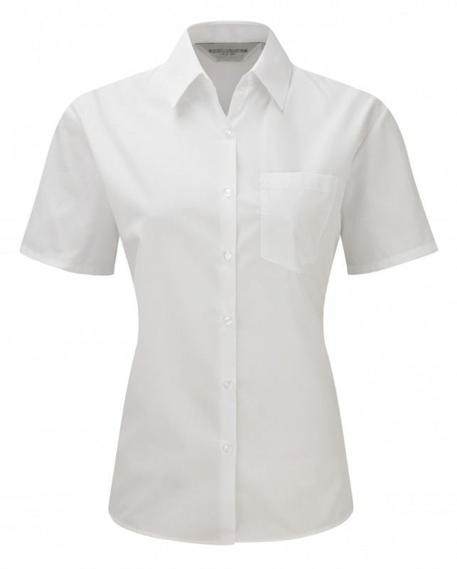 Short Sleeve Poplin Blouse