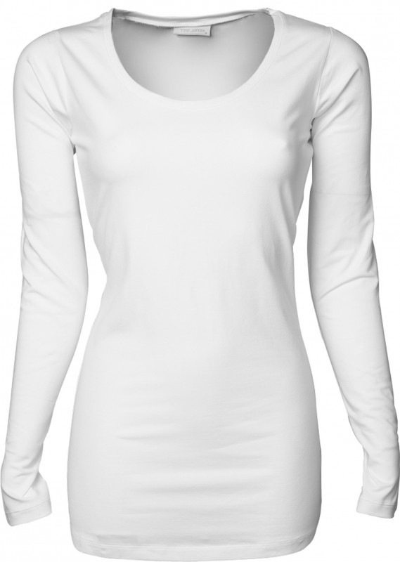 Ladies Stretch LS Tee Extra Long