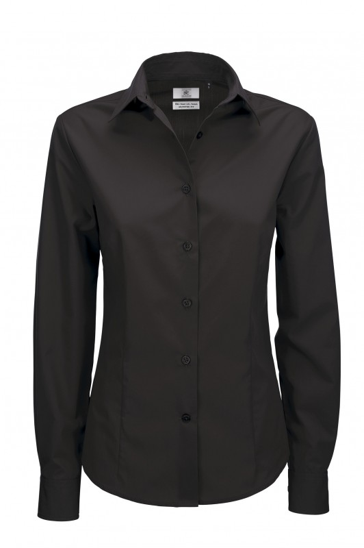 Ladies` Smart Long Sleeve Poplin Shirt