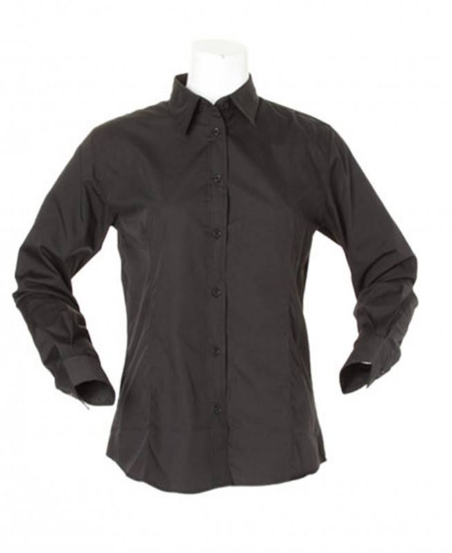 Kustom Kit Ladies Long Sleeve Workforce Shirt