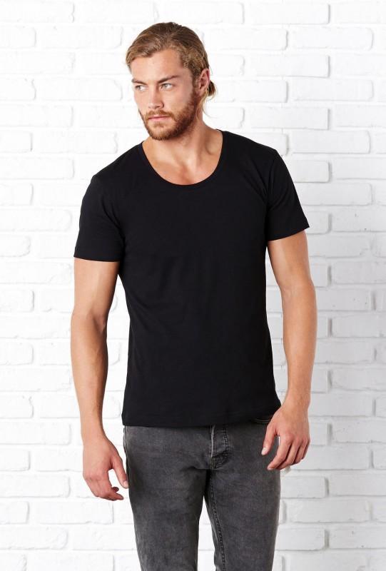 Men`s Wide Neck T-Shirt