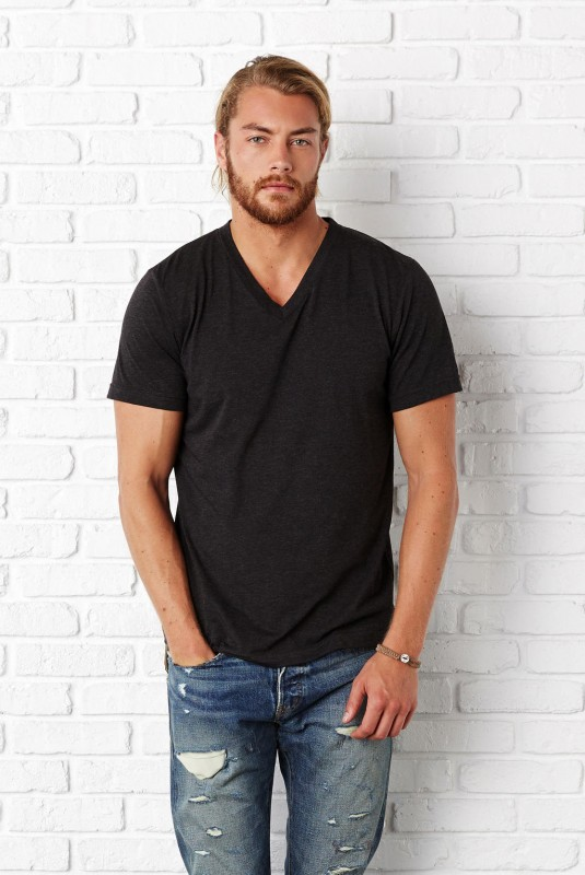Men`s Triblend V-neck T-Shirt