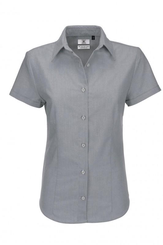 Ladies` Oxford Short Sleeve Shirt