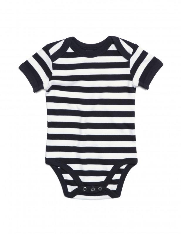 Baby Striped Short Sleeve Bodysuit