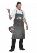 Rock Chef Stripe Bib Apron