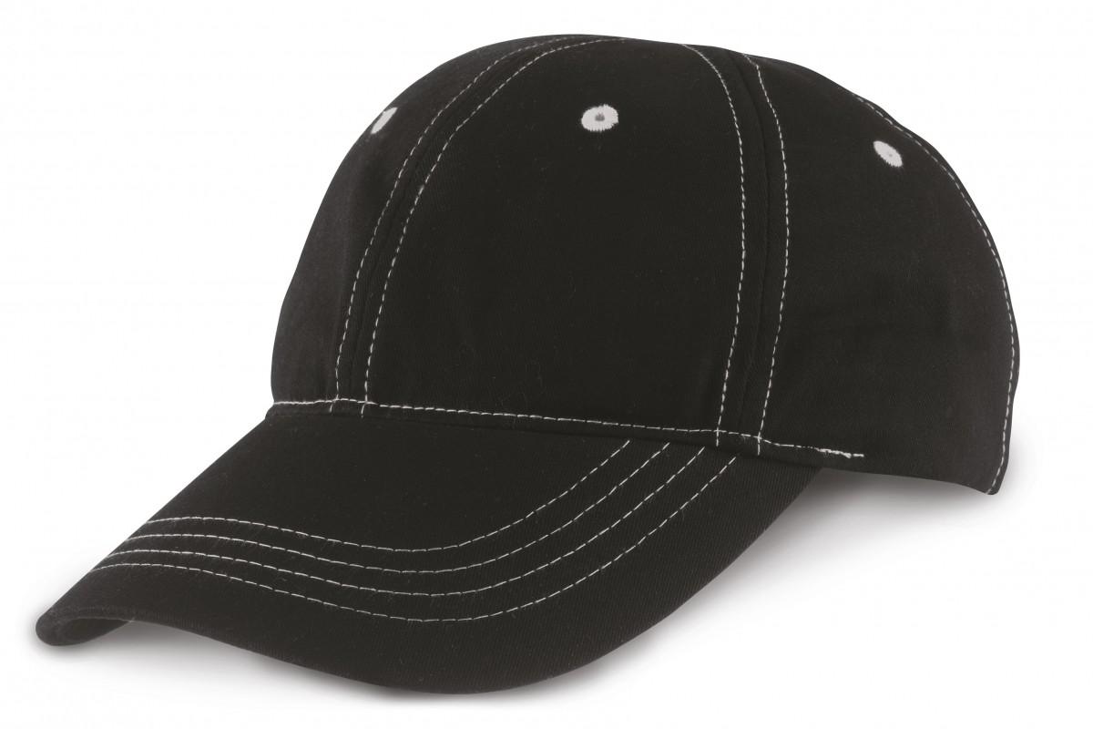 Plush Contrast Stitch Cap