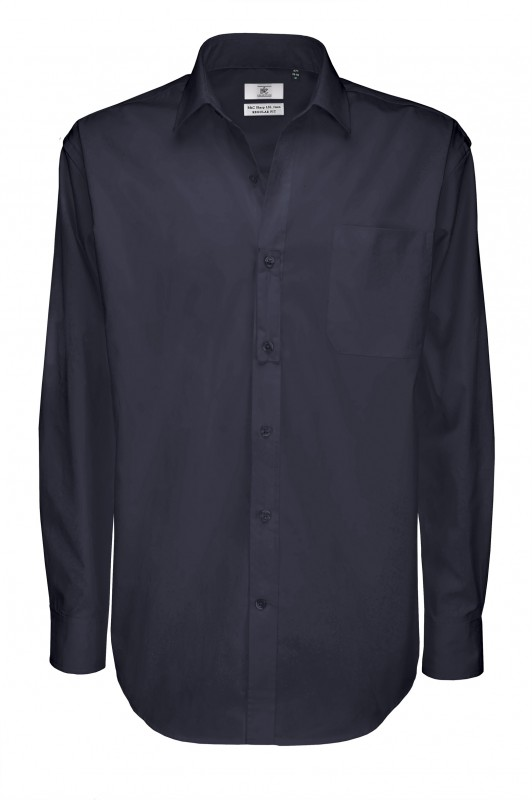 Men`s Sharp Twill Cotton Long Sleeve Shirt