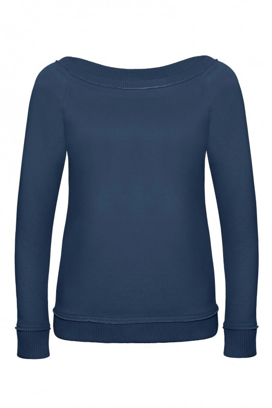 Ladies` Wide Neck Raglan Sweat