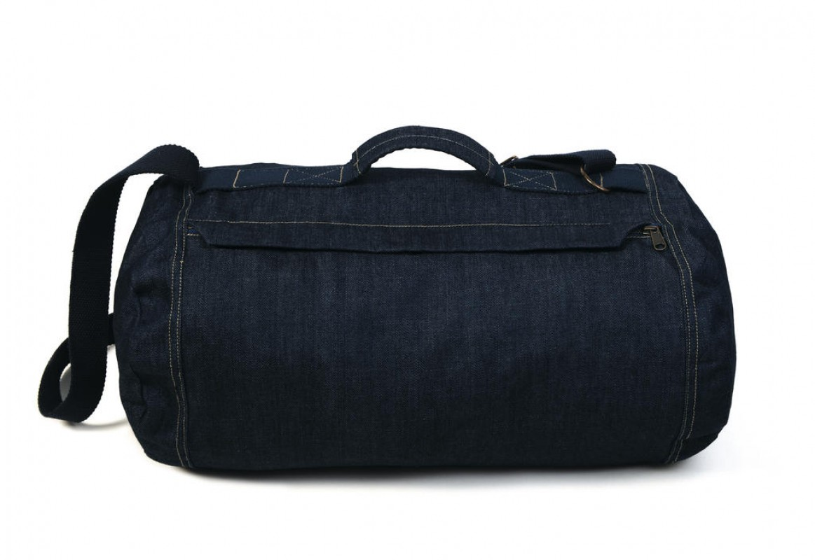 Top Denim Duffle Bag