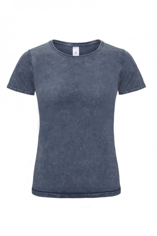 Ladies` Denim Effect T-Shirt