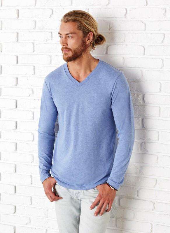 Men`s LS V-neck T-Shirt