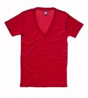 Unisex Jersey Deep V-Neck T-Shirt