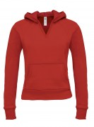 Ladies Hooded V-Neck