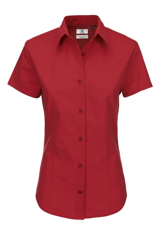 Ladies` Heritage Short Sleeve Poplin Shirt