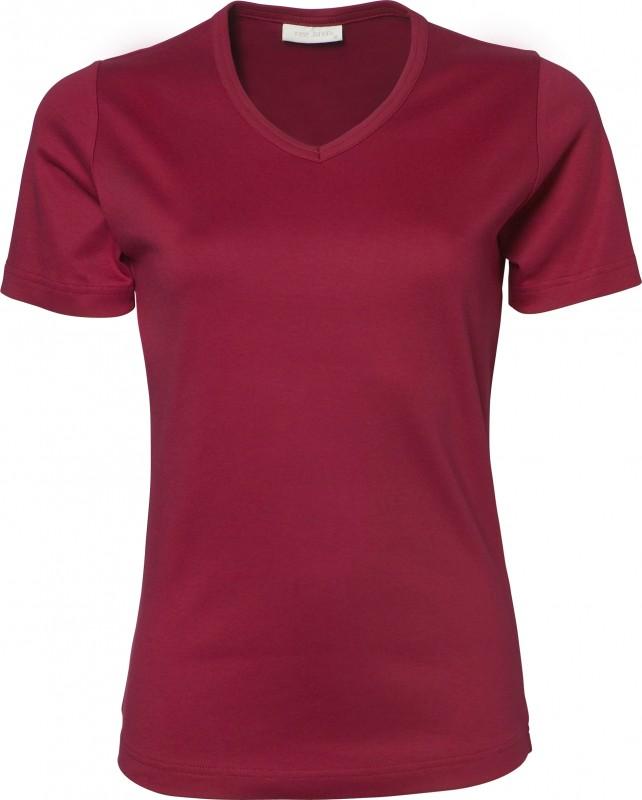 Ladies V-Neck Interlock T-Shirt