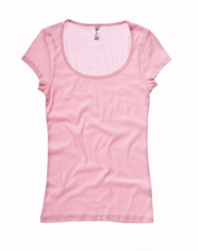 Sheer Scoop Neck T-Shirt