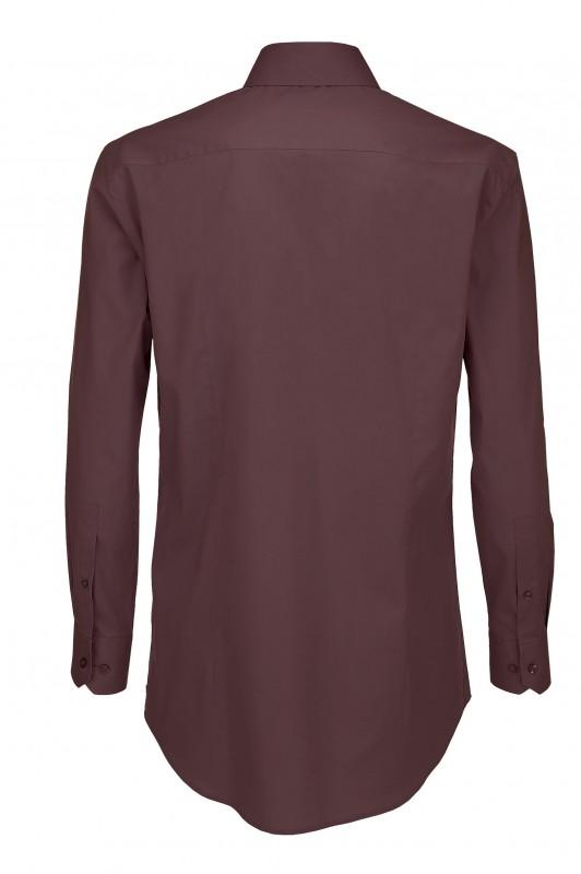 Men`s Black Tie Elastane Long Sleeve Poplin Shirt