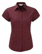 Tailored short-sleeve blouse