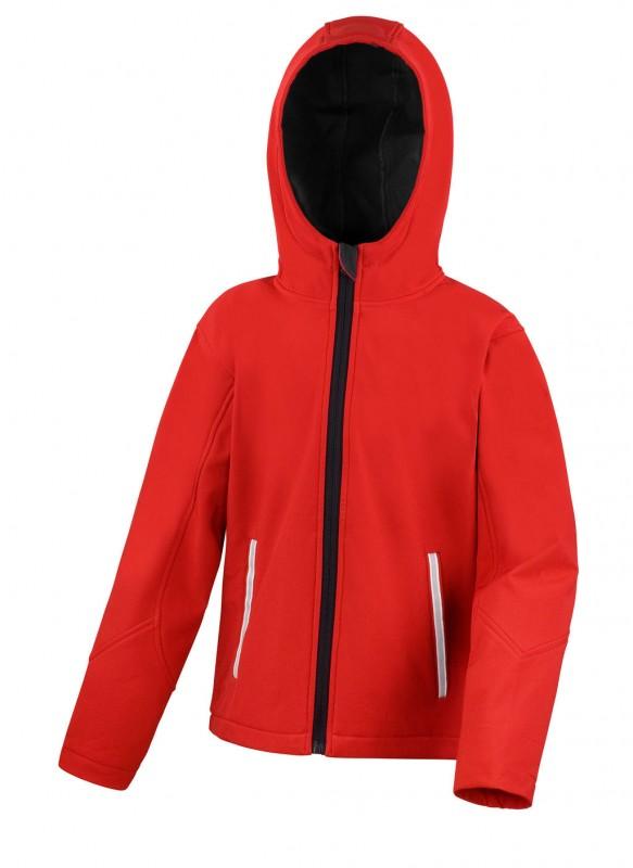 Kids TX Performance Hooded Softshell Jacket