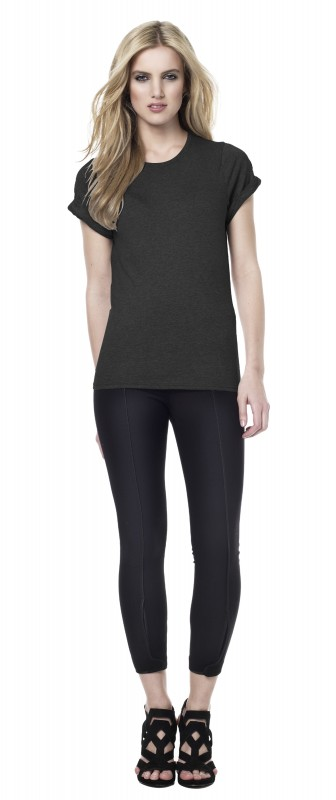 Woman's Rolled-Up Sleeve T