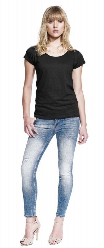Woman's Raw Edge Jersey T