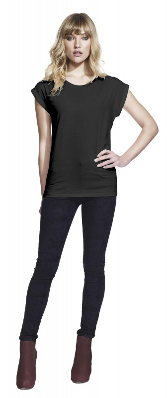Women's Rolled Sleeve Tunic T