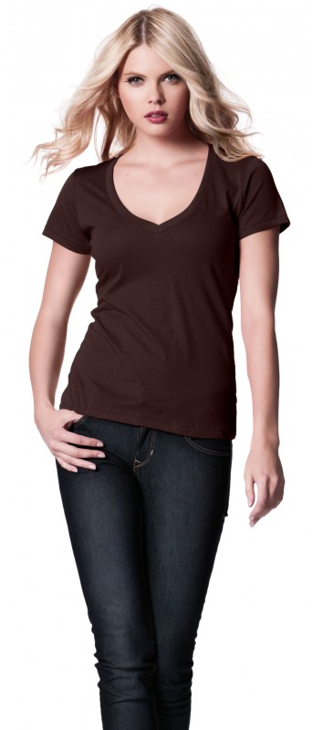 Women's Deep V-neck fine T