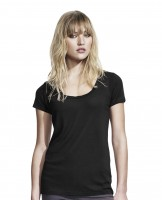 Woman's Bamboo Twisted neck-line T