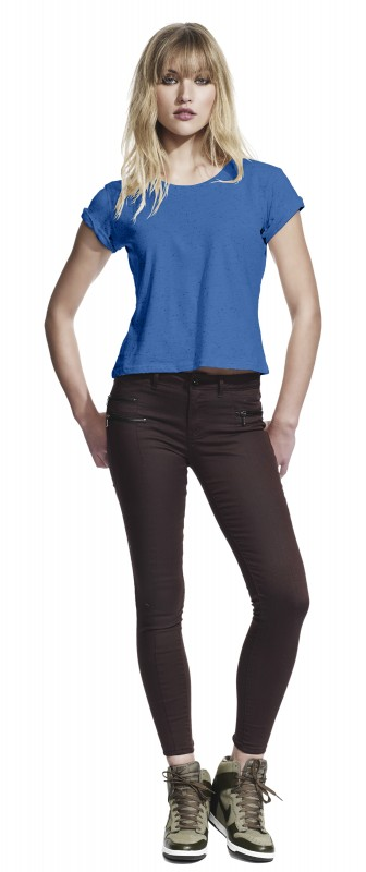 Woman's Speckled Rolled-up Sleeve T