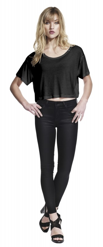 Women's Oversized Cropped Top T