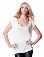 Women's Wide Sleeve Scooped Neck T